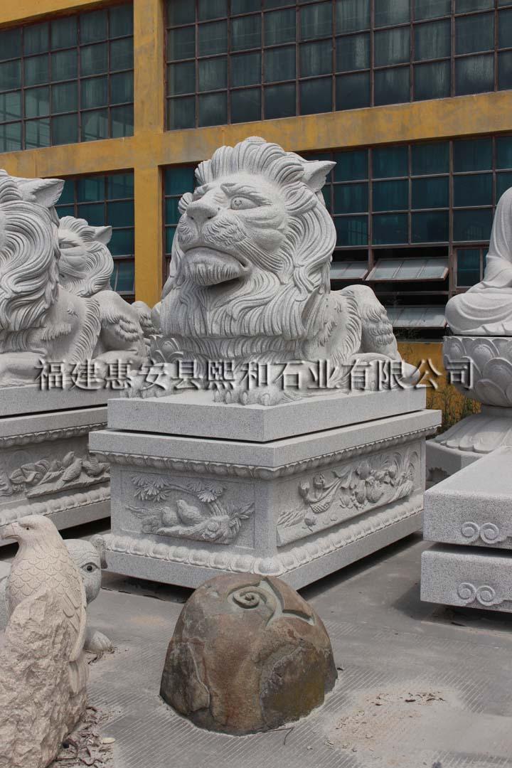 福建省石雕狮子雕刻